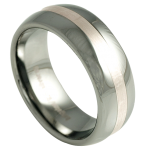 tungsten and silver wedding ring
