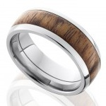 tungsten ring with wooden inlay