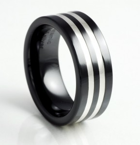 Black-Ceramic-Silver-Band