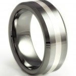 Bevelled Tungsten Ring