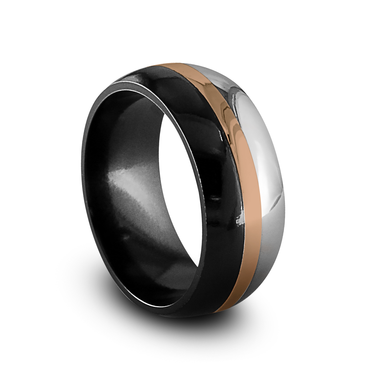 effra back home products jewellery ring in gold polished mens