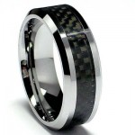 Black Carbon Fiber & Tungsten Ring