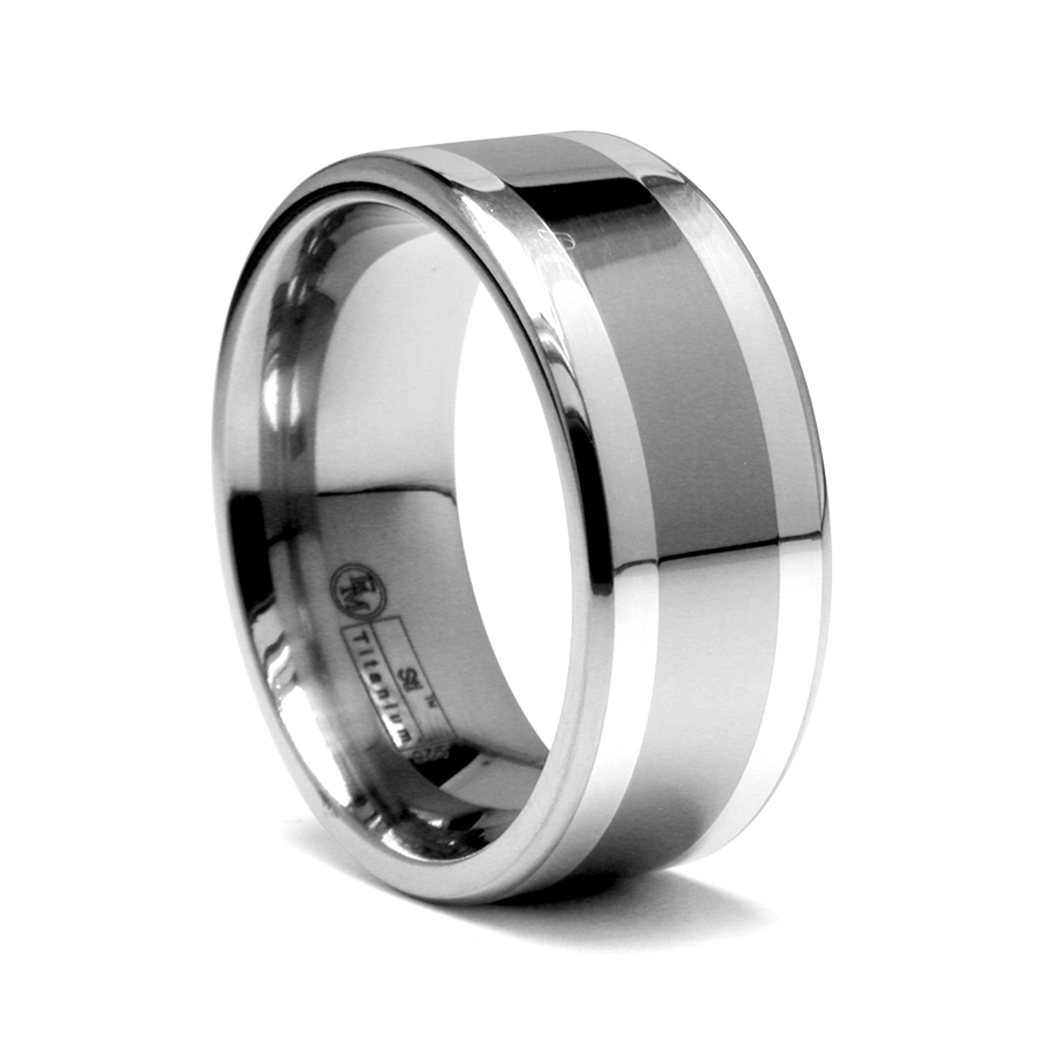 brushed s inlay pinky comfort bold com titanium wide amazon finish resin bands fit men mens dp ring with