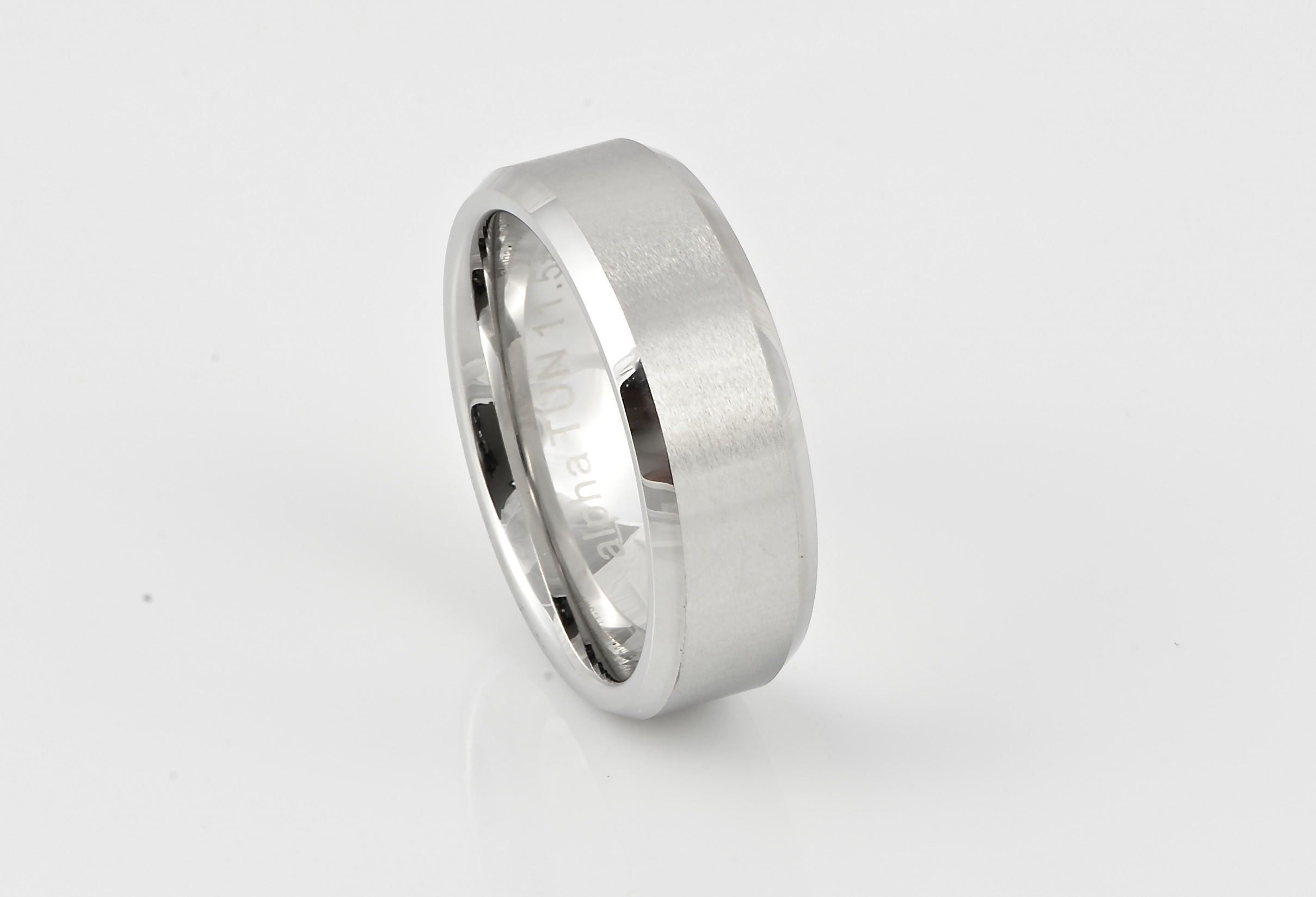 carbide in tungsten mens rings wedding momento band artcarved