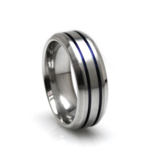 gold domed ip sage wedding ring grey center plated brushed tungsten inside rings inlaid rose
