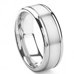 Cobalt mens wedding ring