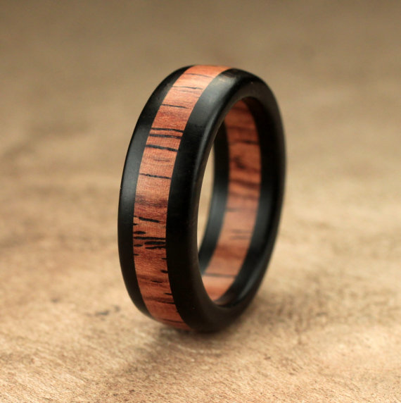 in band ring blackened cobalt rings mens rosewood men wedding inlay s
