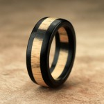 hand crafted wood ring
