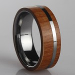 Mens full face wooden ring