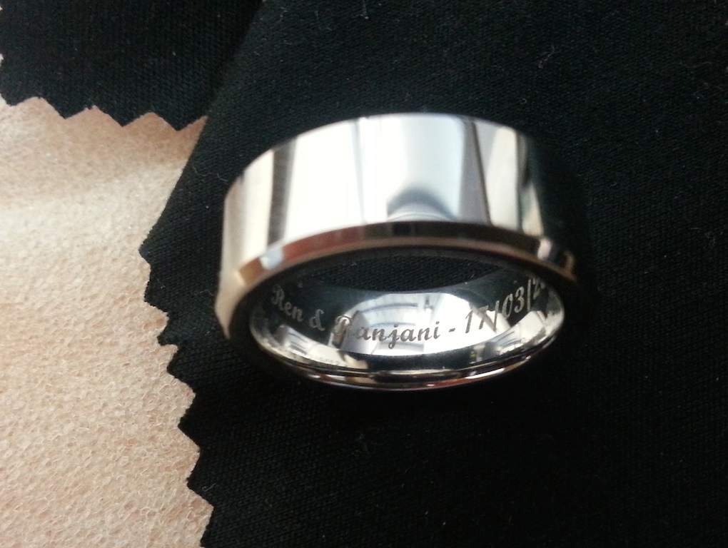 polished Cobalt Mens ring
