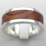 Tungsten & wood ring