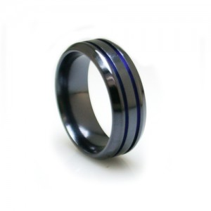 anodized-black-titanium-band with blue