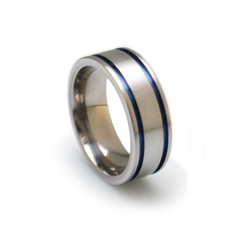 mens blue rings